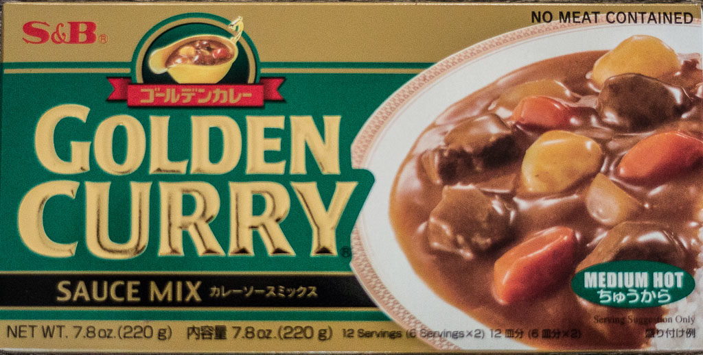 store-bought S&B golden curry sauce mix/roux