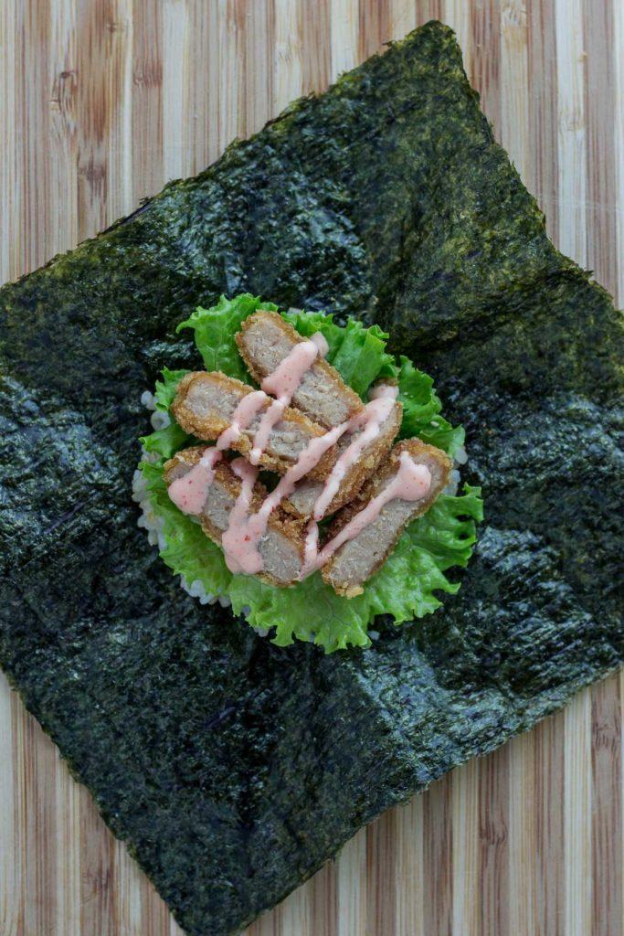 vegan onigirazu - step 3
