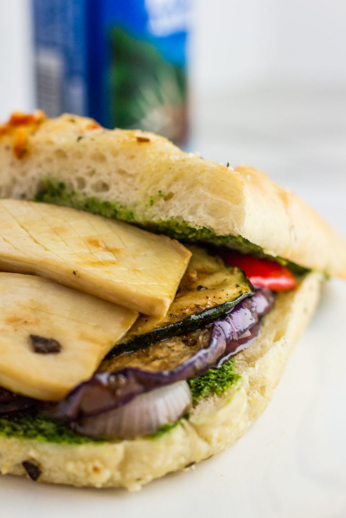 Vegan Veggie Sandwich before cutting