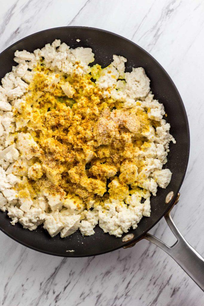 Tofu with seasoning