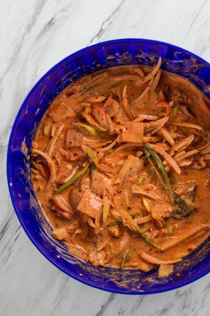 kimchi pancake batter