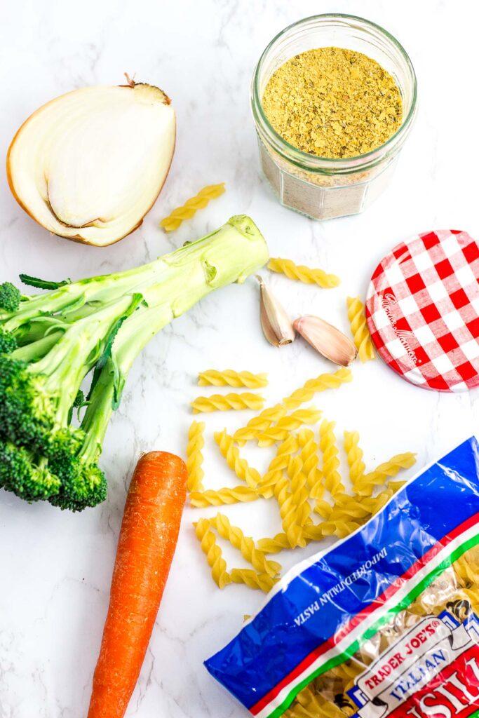 Ingredients to make the pasta