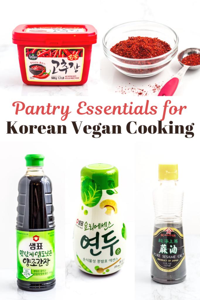 5 Pantry essentials for Korean vegan cooking