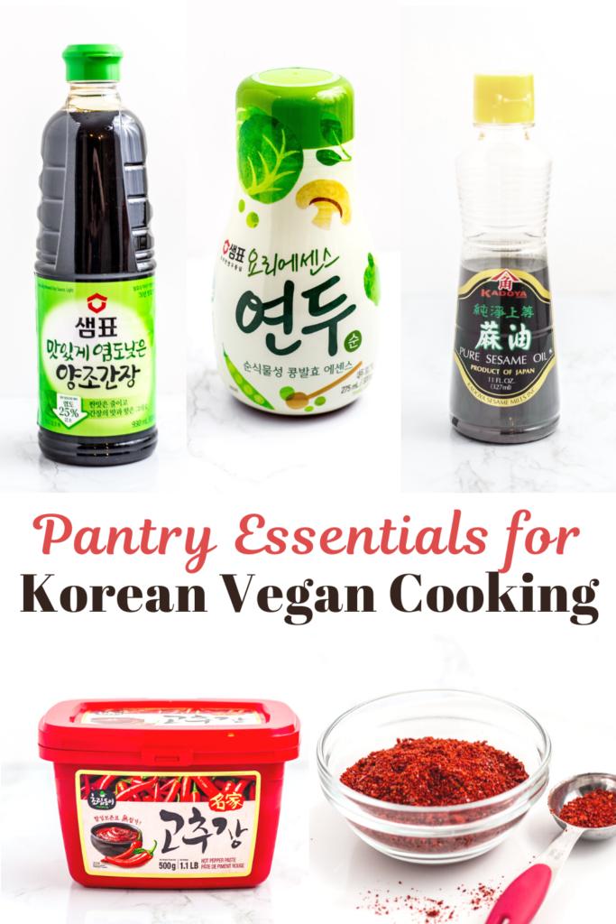 Pantry essentials for Korean vegan cooking
