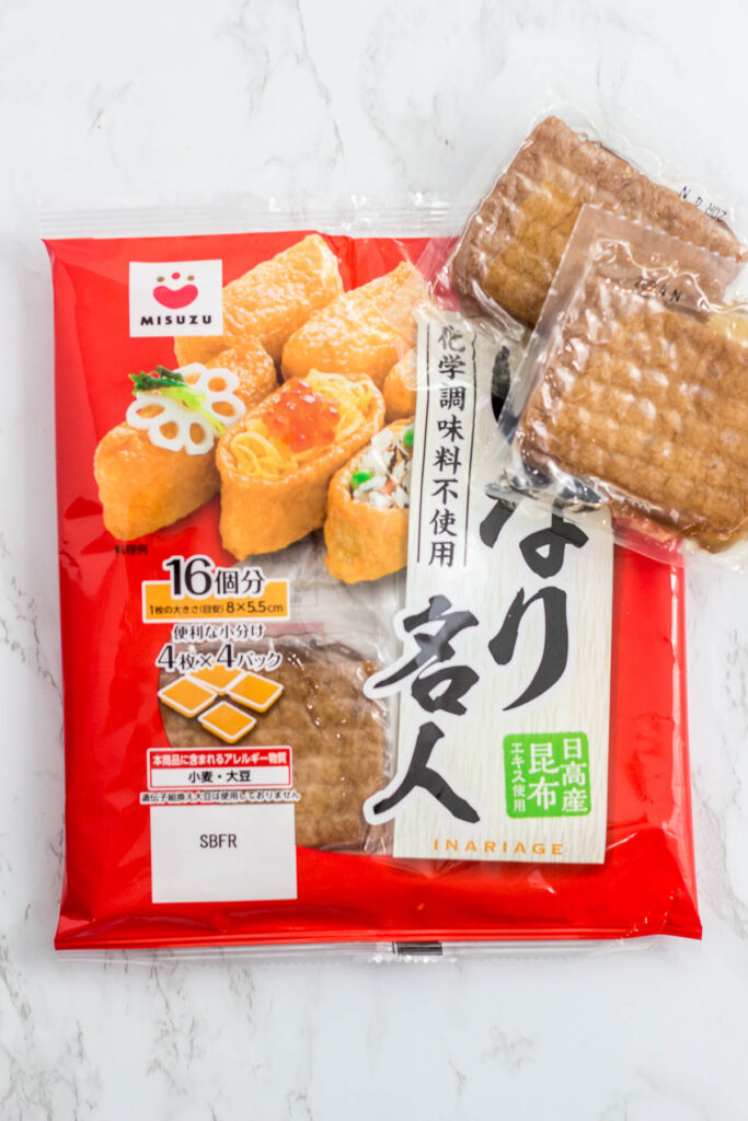 Seasoned Japanese tofu pouch