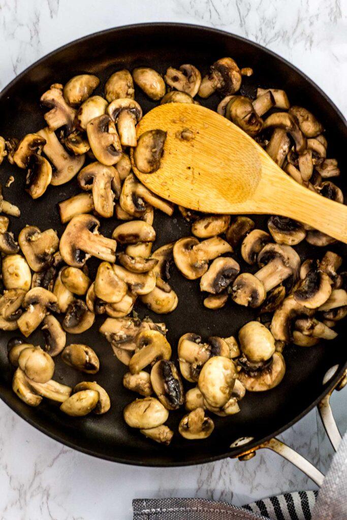 sauteed mushroom in the pan
