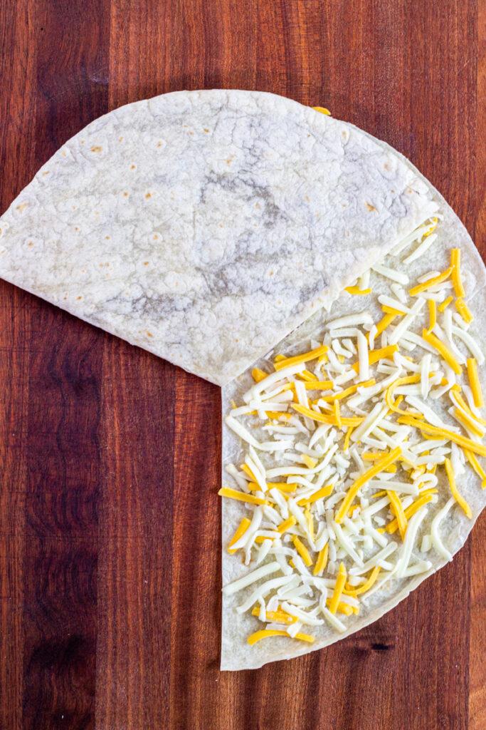 3 layer folding tortilla hack.