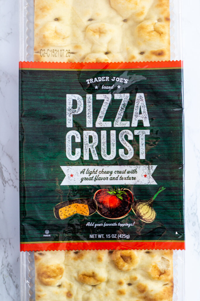 a store-bought crust from Trader Joe's.